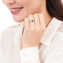 Bague Emeralina Or Blanc Saphir Et Diamant - Bagues avec pierre Femme | Histoire d'Or