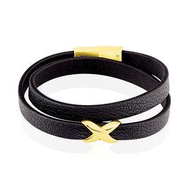 Bracelet Laetus Acier Jaune - Bracelets Croix Femme   Histoire d'Or