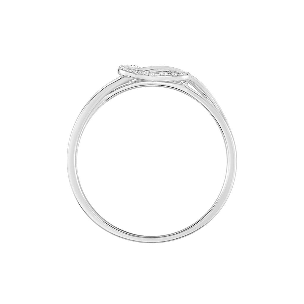 Bague Malinda Or Blanc Diamant - Bagues Coeur Femme | Histoire d'Or