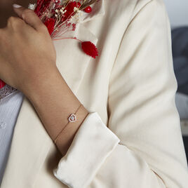 Bracelet Alais Plaque Or Oxyde De Zirconium - Bracelets Coeur Femme | Histoire d'Or