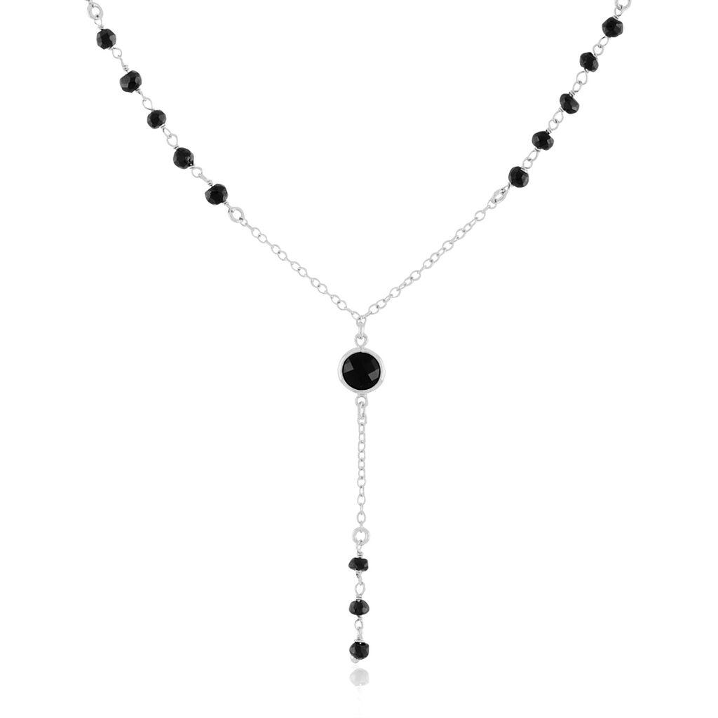 Collier Luanne Argent Blanc Spinelle - Colliers fantaisie Femme | Histoire d'Or