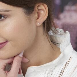 Boucles D'oreilles Puces Suki Rondes Nacres Or Jaune Perle De Culture - Clous d'oreilles Femme | Histoire d'Or