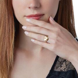 Bague Saleah Plaque Or Jaune Oxyde De Zirconium - Bagues Coeur Femme   Histoire d'Or