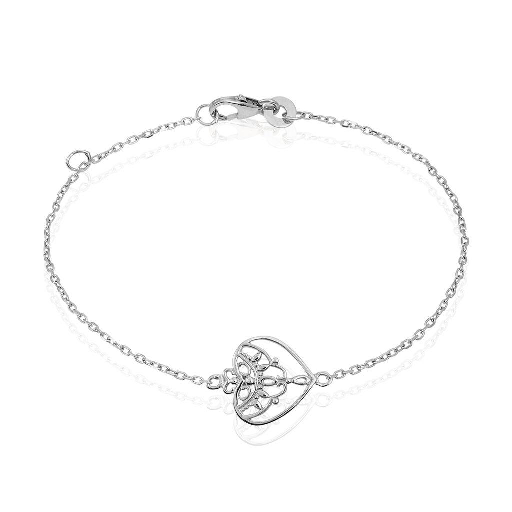 Bracelet Estrella Argent Blanc - Bracelets Coeur Femme   Histoire d'Or