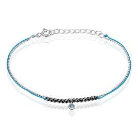 Bracelet Rafaela Argent Blanc Oxyde De Zirconium - Bracelets cordon Femme   Histoire d'Or