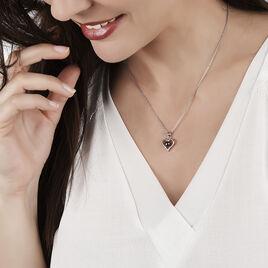 Collier Argent Coeur Perle De Culture Grise - Colliers Coeur Femme | Histoire d'Or