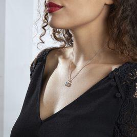 Collier Aladin Argent Blanc Oxyde De Zirconium - Colliers fantaisie Femme   Histoire d'Or