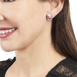 Bijoux D'oreilles Sarodja Or Blanc Oxyde De Zirconium Perle De Culture - Ear cuffs Femme   Histoire d'Or