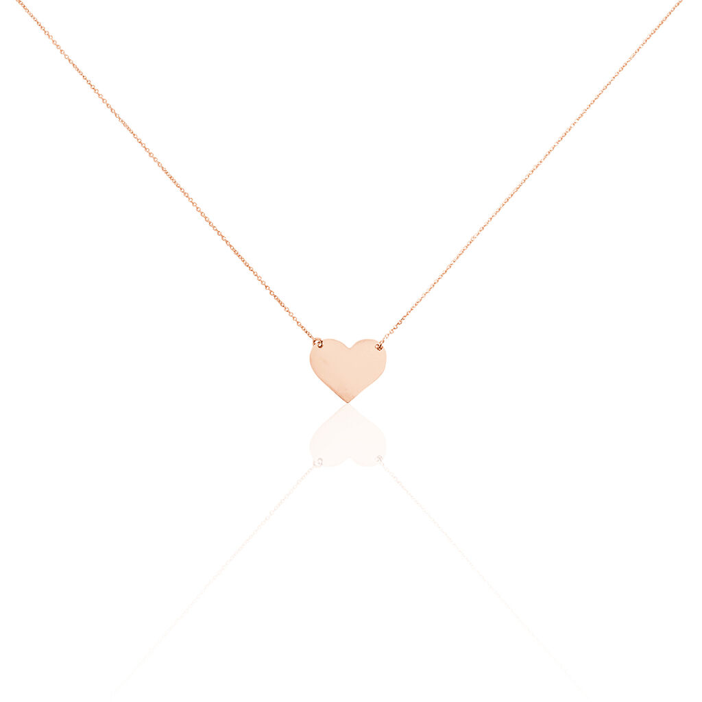 Collier Helenia Coeur Gravable Or Rose - Colliers Coeur Enfant | Histoire d'Or