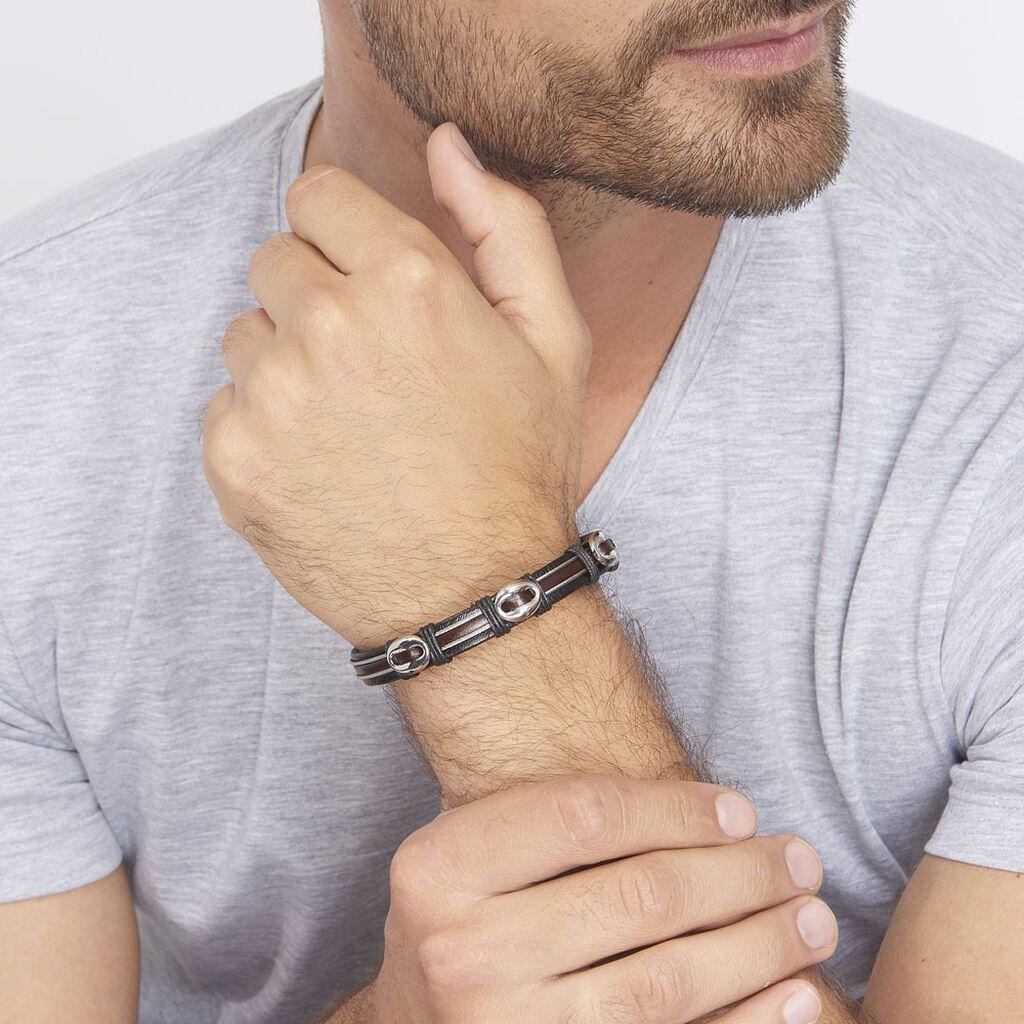 Bracelet Cleo Acier Blanc - Bracelets fantaisie Homme | Histoire d'Or