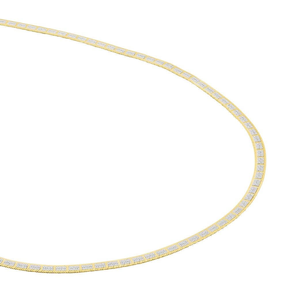 Collier Nuriaae Maille Heringbone Argent Jaune - Chaines Femme | Histoire d'Or