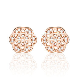 Boucles D'oreilles Pendantes Enoch Argent Blanc Oxyde De Zirconium - Boucles d'oreilles fantaisie Femme | Histoire d'Or