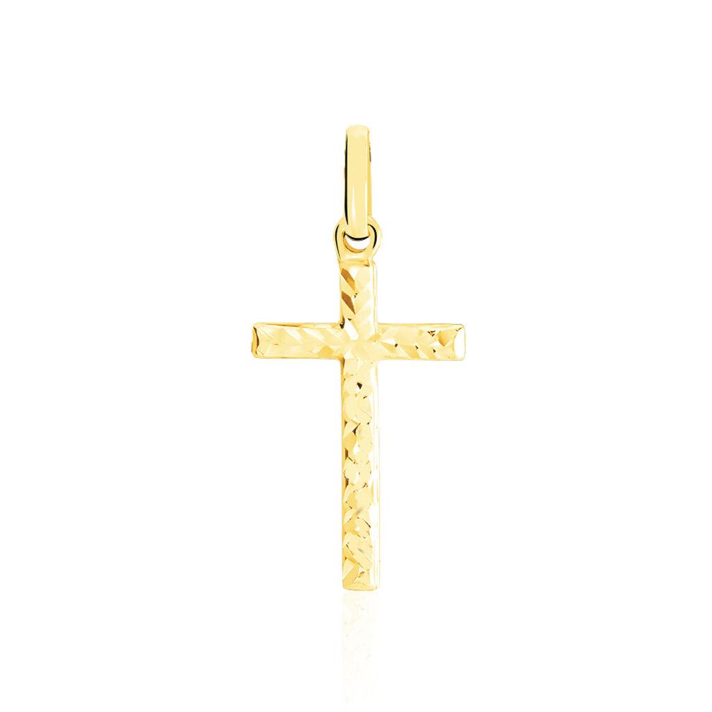 Pendentif Benny Croix Ciselee Or Jaune - Pendentifs Croix Femme | Histoire d'Or