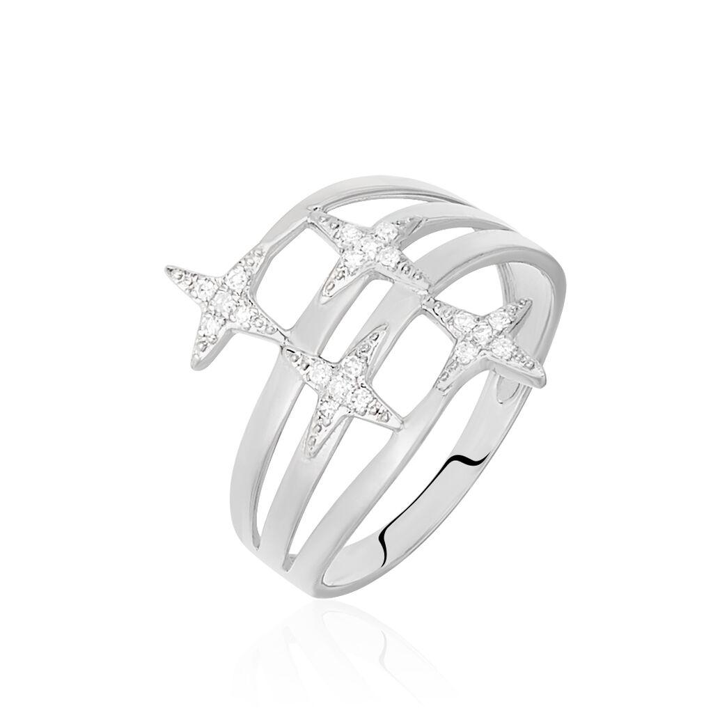 Bague Danilana Or Blanc Diamant - Bagues Etoile Femme   Histoire d'Or