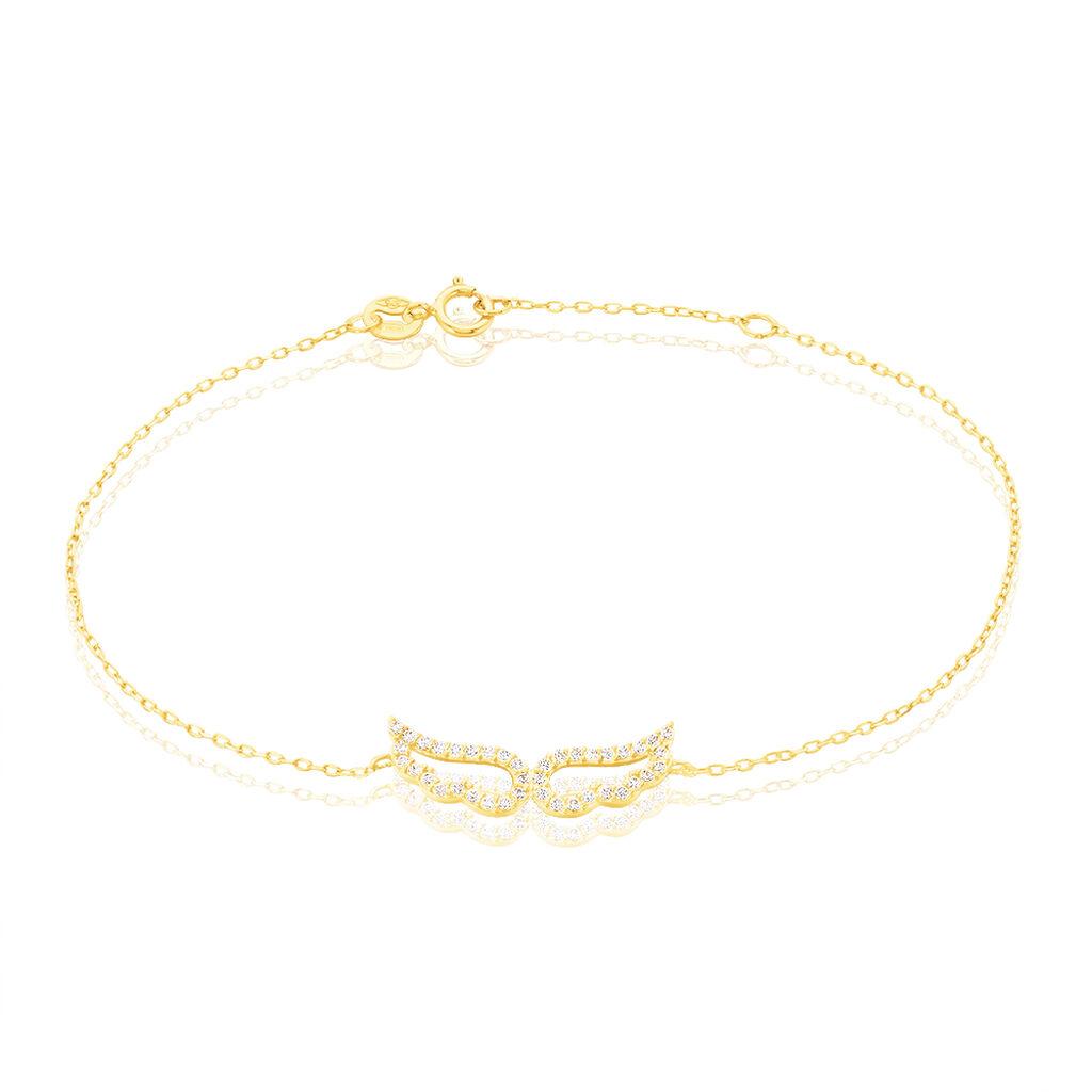Bracelet Angela Or Jaune Oxyde De Zirconium - Bijoux Femme | Histoire d'Or