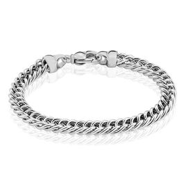 Bracelet Clementine Maille Gourmette Argent Blanc - Bracelets chaîne Femme | Histoire d'Or