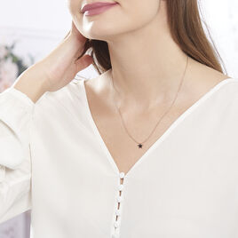 Collier Argent Rose Aliciana Etoile - Colliers Etoile Femme   Histoire d'Or
