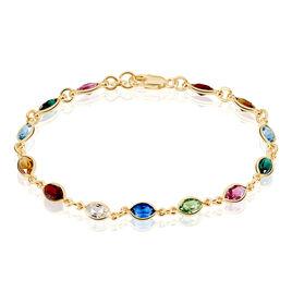 Bracelet Plaque Or Ilvaae Pierres Multicolores - Bracelets fantaisie Femme   Histoire d'Or