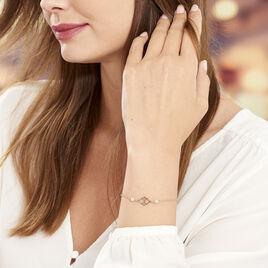 Bracelet Oumeima Argent Rose - Bracelets fantaisie Femme   Histoire d'Or