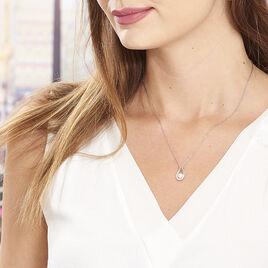 Collier Akiko Argent Blanc Perle De Culture Et Oxyde De Zirconium - Colliers fantaisie Femme | Histoire d'Or