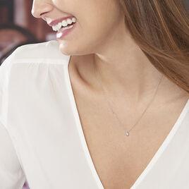 Collier Nazha Or Blanc Oxyde De Zirconium - Bijoux Femme | Histoire d'Or