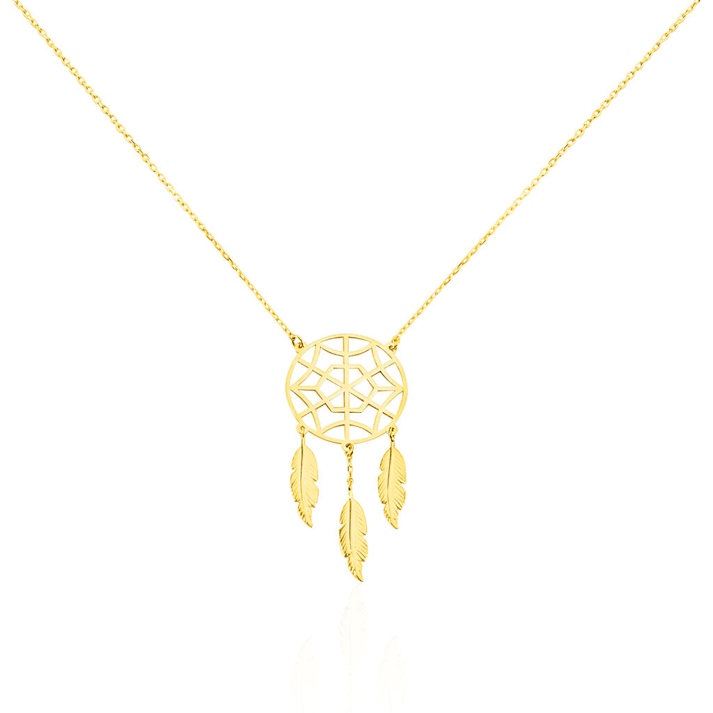 Collier Oneka Or Jaune - Colliers Attrape rêves Femme | Histoire d'Or