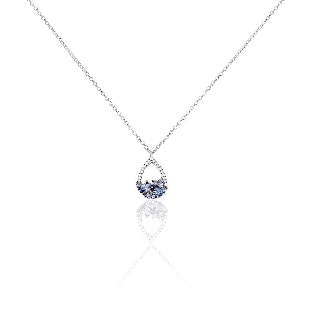 Collier Othilie Argent Blanc Oxyde De Zirconium - Colliers fantaisie Femme | Histoire d'Or