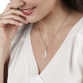 Collier Irene Argent Blanc - Colliers Plume Femme | Histoire d'Or