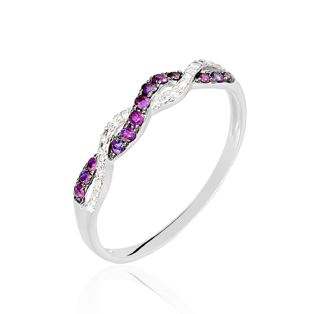 Bague Sofia Or Blanc Rubis Et Diamant - Bagues avec pierre Femme | Histoire d'Or