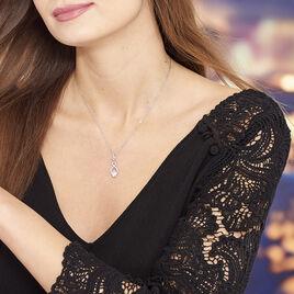 Collier Ylianna Argent Blanc Oxyde De Zirconium - Colliers fantaisie Femme   Histoire d'Or