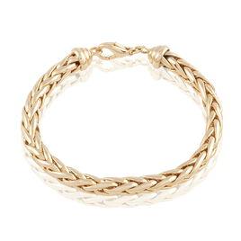 Bracelet Avelyne Maille Palmier Plaque Or Jaune - Bracelets chaîne Femme | Histoire d'Or
