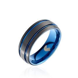 Bague Acier Bleu - Bagues fantaisie Homme | Histoire d'Or