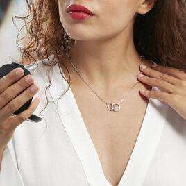 Collier Isabel Argent Blanc Oxyde De Zirconium - Colliers fantaisie Femme   Histoire d'Or