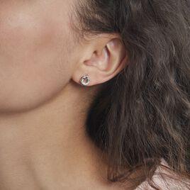 Boucles D'oreilles Puces Or Tricolore Vanadissa Diamants - Clous d'oreilles Femme | Histoire d'Or