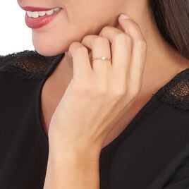 Bague Solitaire Gaxina Or Rose Diamant - Bagues solitaires Femme | Histoire d'Or