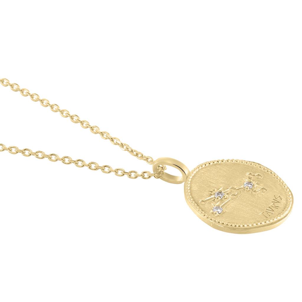 Collier Iago Plaque Or Oxydes De Zirconium - Sautoirs Femme   Histoire d'Or