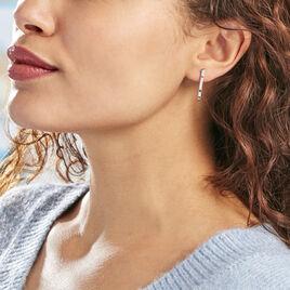 Boucles D'oreilles Pendantes Fimia Argent Blanc Oxyde De Zirconium - Boucles d'oreilles fantaisie Femme | Histoire d'Or