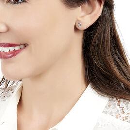 Boucles D'oreilles Puces Domitia Or Blanc Diamant - Clous d'oreilles Femme | Histoire d'Or