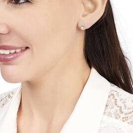 Boucles D'oreilles Puces Helie Goutte Or Jaune Oxyde De Zirconium - Clous d'oreilles Femme   Histoire d'Or