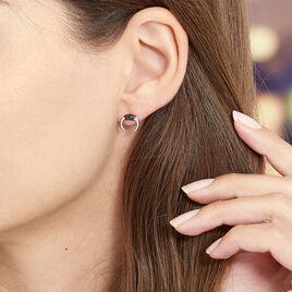 Boucles D'oreilles Puces Corneliana Argent Blanc Oxyde De Zirconium - Boucles d'oreilles fantaisie Femme   Histoire d'Or