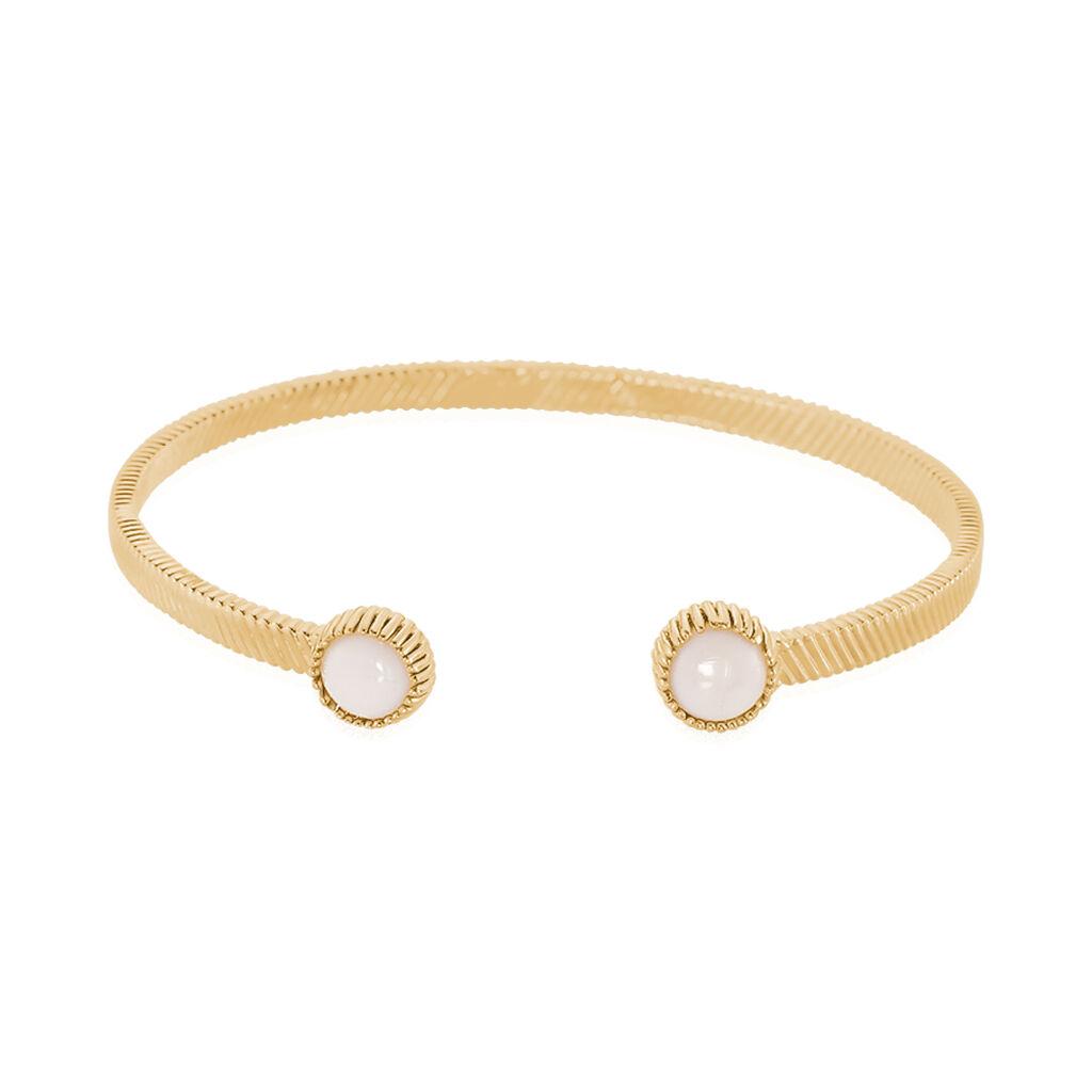 Bracelet Jonc Adoni Plaque Or Jaune Verre - Bracelets fantaisie Femme   Histoire d'Or