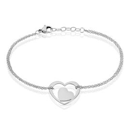 Bracelet Modernity Acier Blanc - Bracelets Coeur Femme | Histoire d'Or