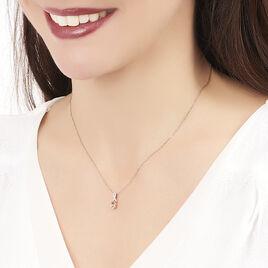 Collier Or Rose Morganite Et Diamant - Bijoux Femme | Histoire d'Or