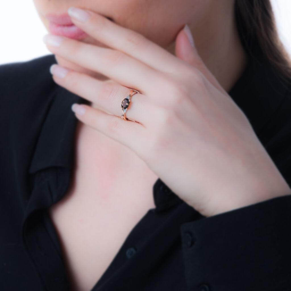 Bague Emeline Or Bicolore Citrine - Bagues solitaires Femme | Histoire d'Or