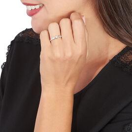 Bague Kadja Or Blanc Oxyde De Zirconium - Bagues avec pierre Femme   Histoire d'Or
