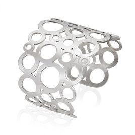 Bracelet Manchette Aiix Acier Blanc - Bracelets fantaisie Femme | Histoire d'Or