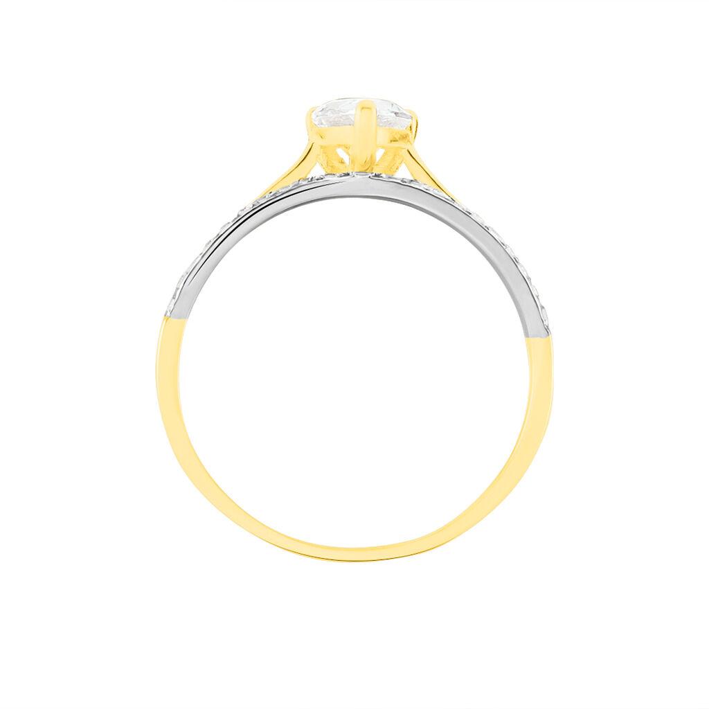 Bague Solitaire Andreane Or Jaune Oxyde De Zirconium - Bagues avec pierre Femme | Histoire d'Or