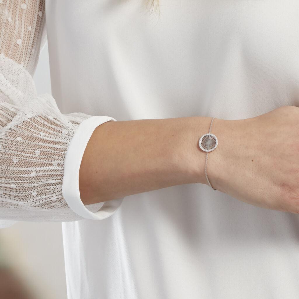 Bracelet Feliz Argent Blanc Oxyde De Zirconium - Bracelets fantaisie Femme | Histoire d'Or
