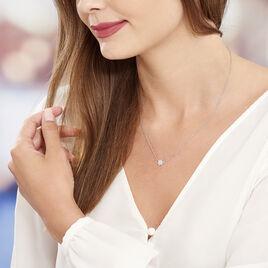 Collier Cyriac Argent Blanc Oxyde De Zirconium - Colliers fantaisie Femme   Histoire d'Or
