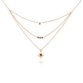 Collier Evora Argent Rose Oxyde De Zirconium - Colliers Etoile Femme | Histoire d'Or
